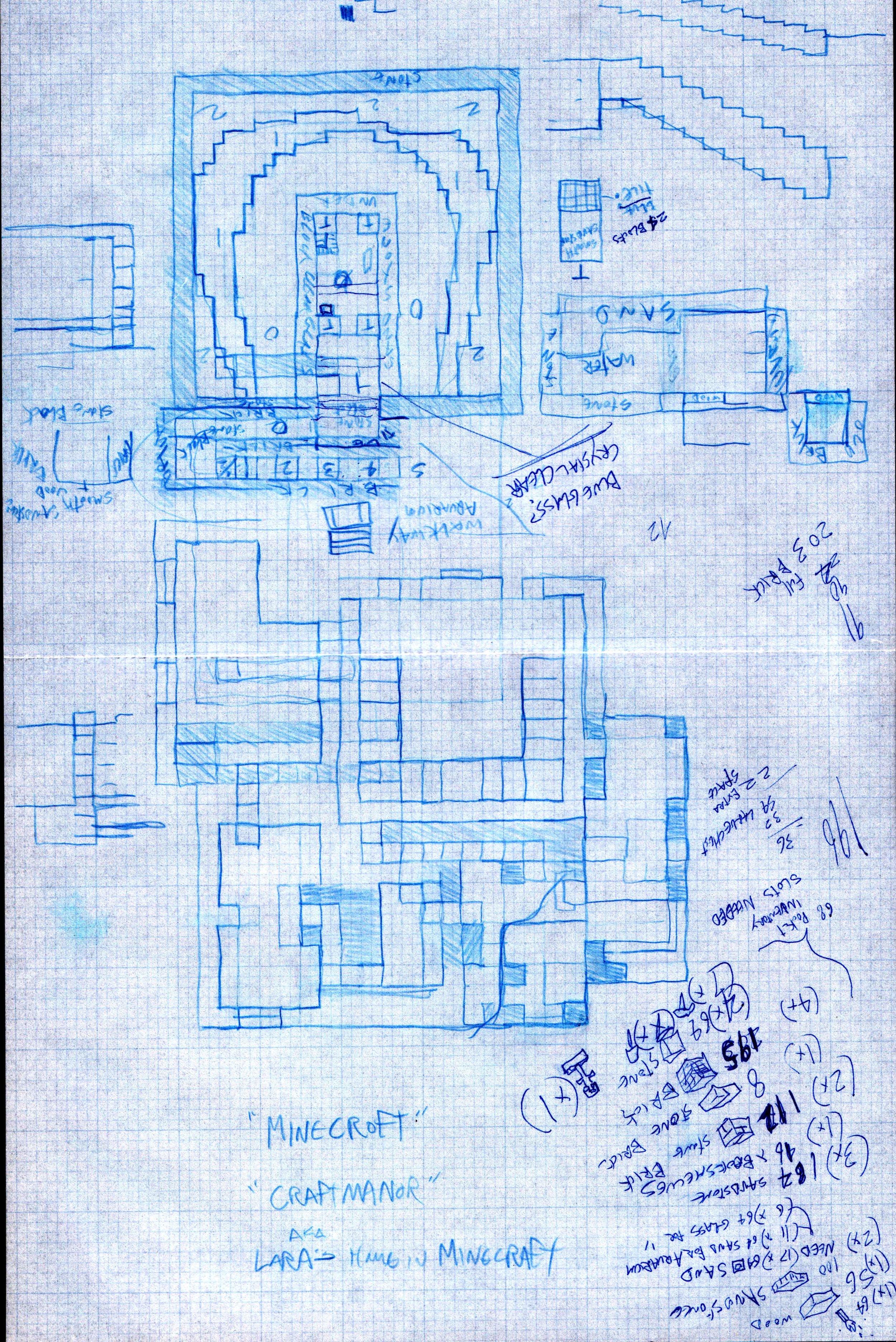 MinecraftManor 1.0 Floorplans.jpg