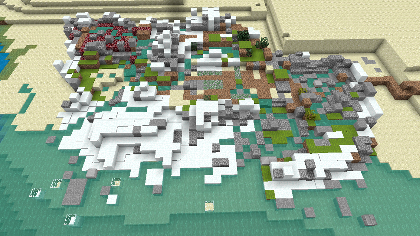 …and this is the same map made in Minecraft. I like the LEGO one more.