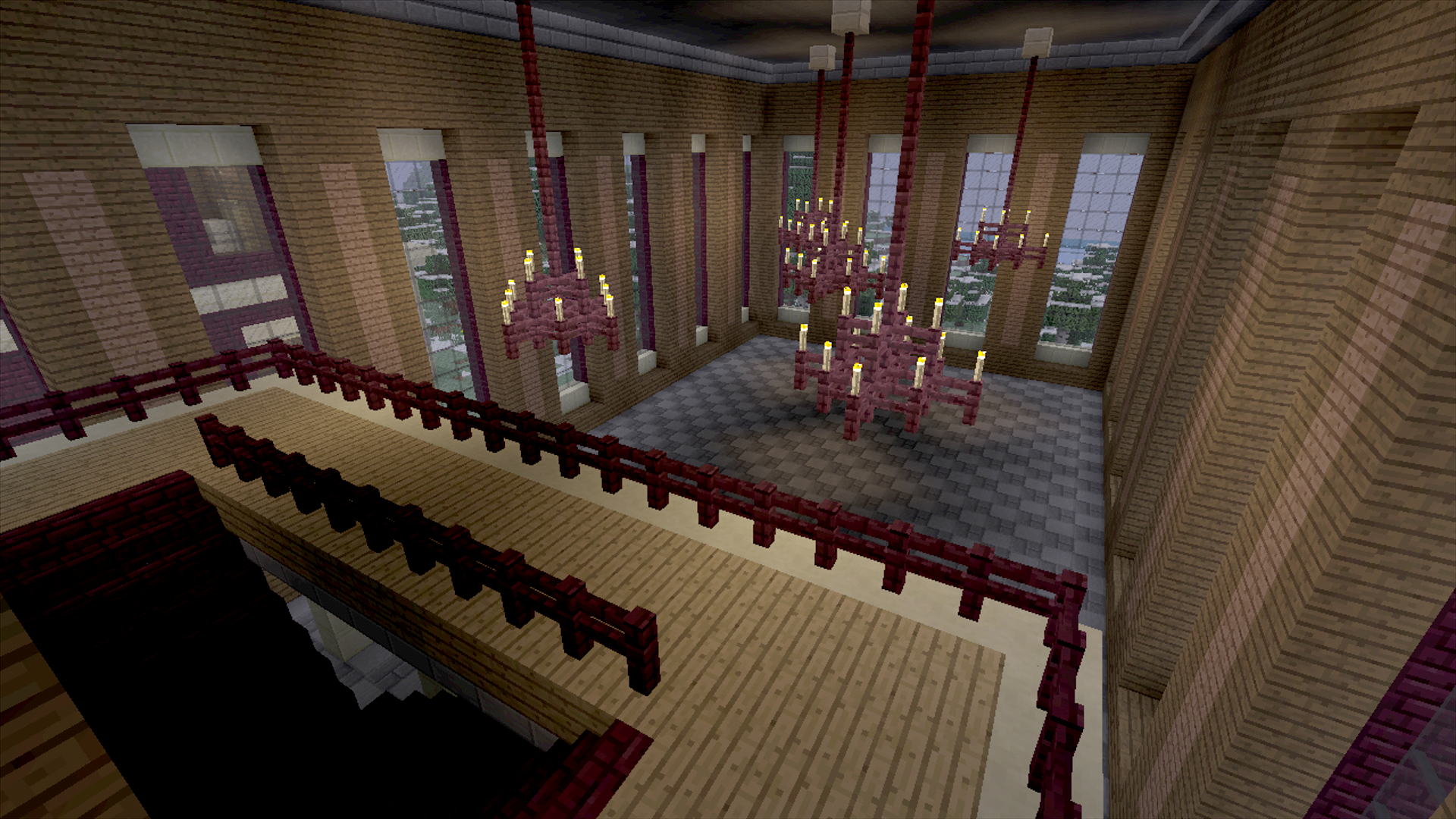 In Blood Ties, if you look out the windows, you can see other structures in Croft Manor that you can't reach. Those rooms have to be filled with something! I'd like to think this was a ballroom.