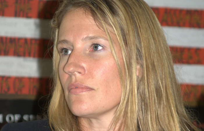 Jennifer moderating at the 2010 Brooklyn Book Fair