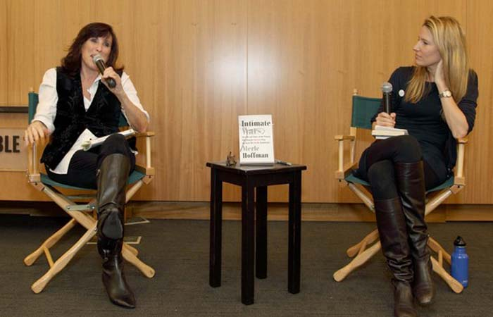 Interviewing Merle Hoffman about her memoir,  Intimate Wars , at Barnes and Noble, 2012