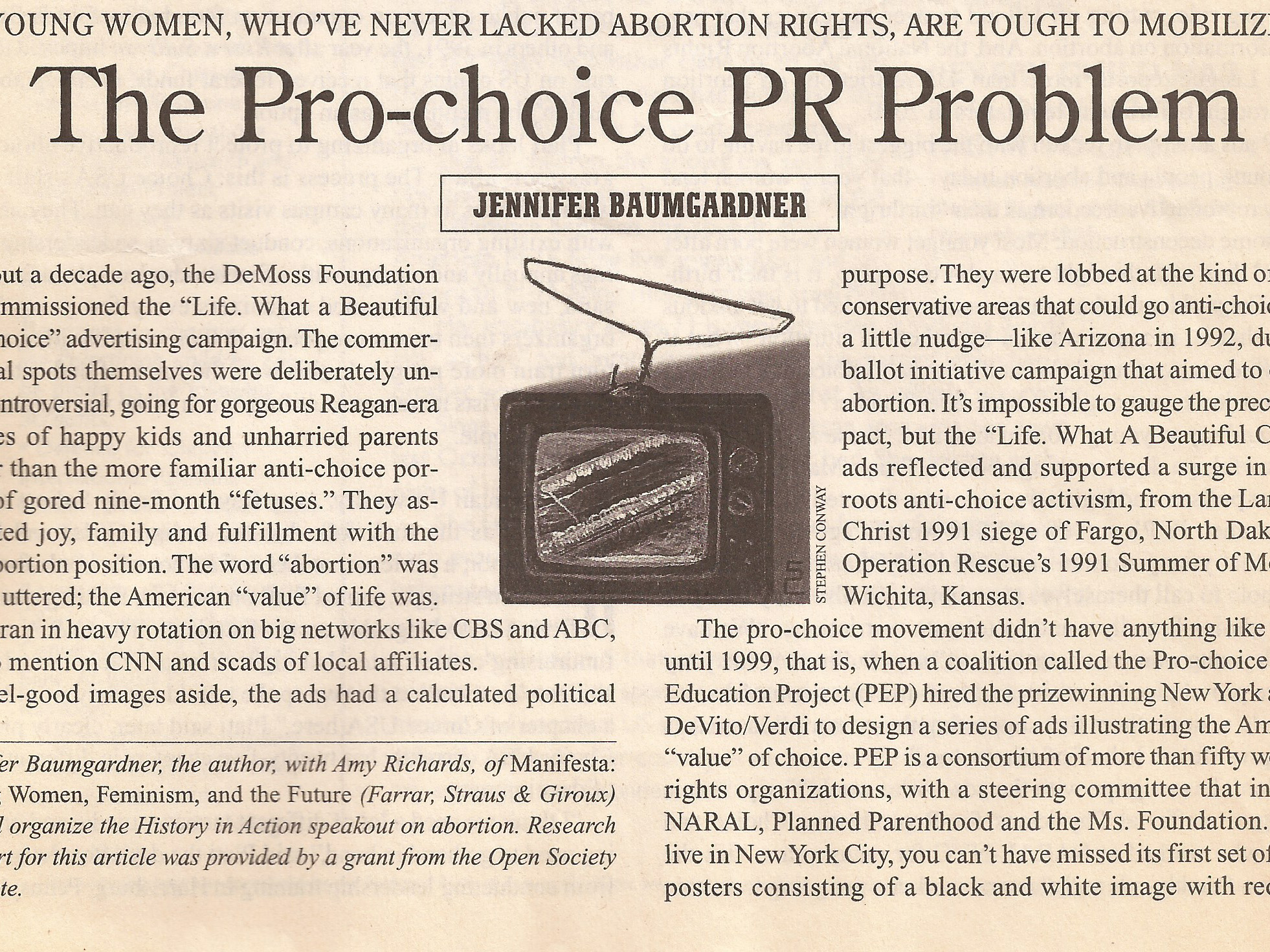 The Pro-Choice PR Problem  The Nation, 3/5/01