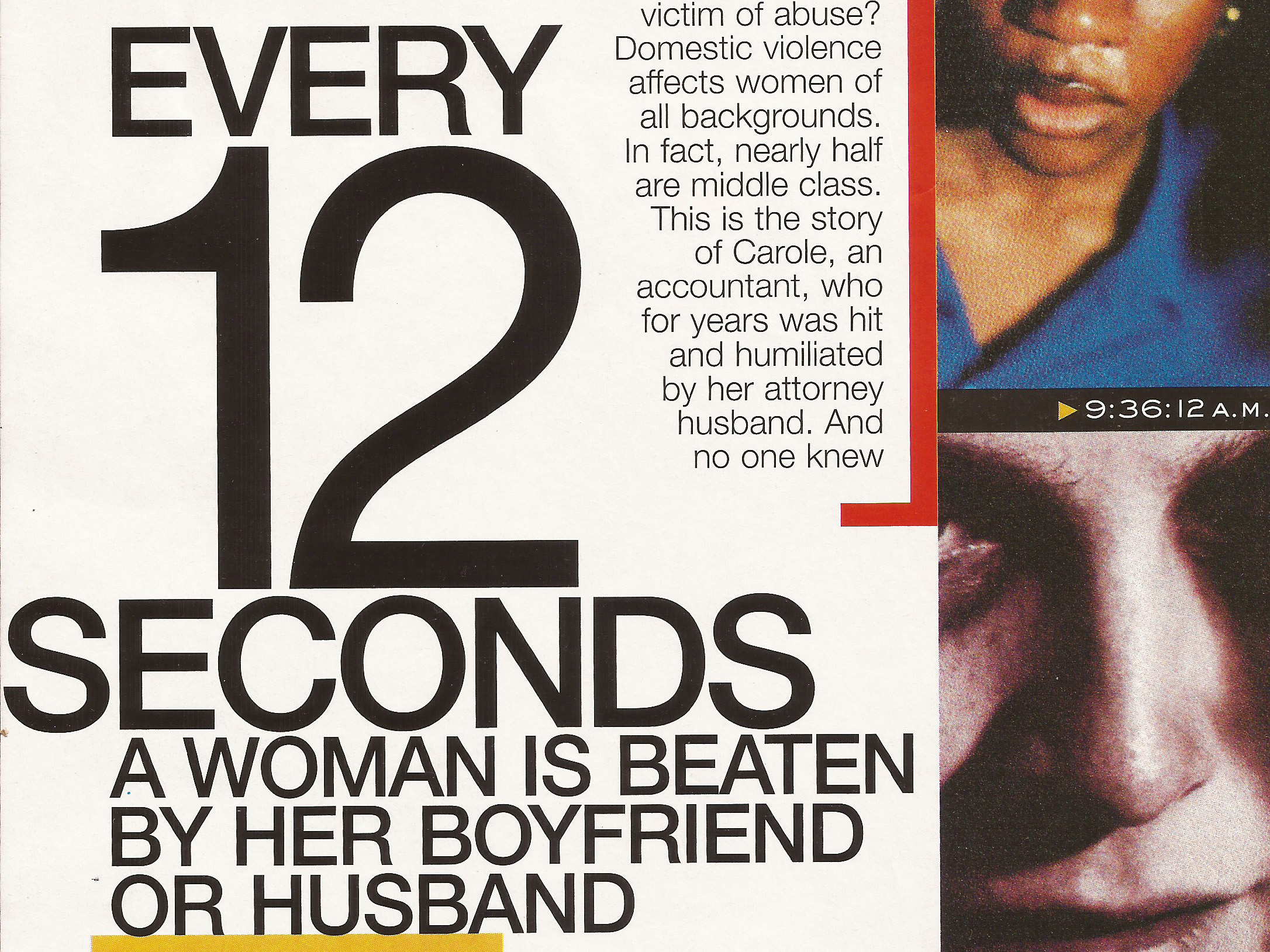 Every 12 Seconds  Marie Claire , 2000