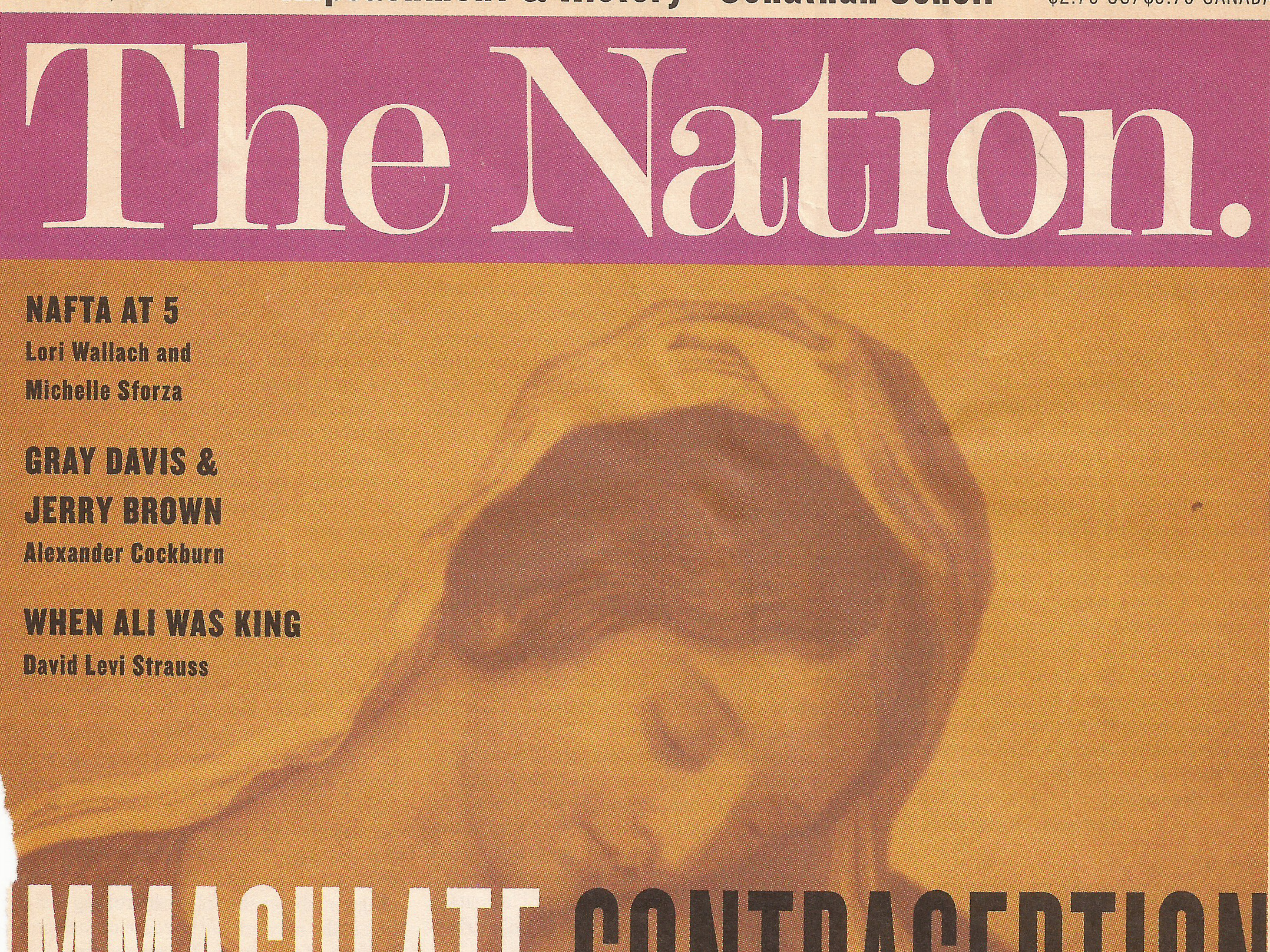 Immaculate Contraception  The Nation , 1/25/99