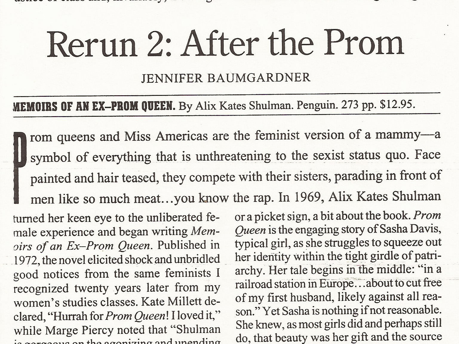 Rerun 2: After the Prom  The Nation , 10/20/97