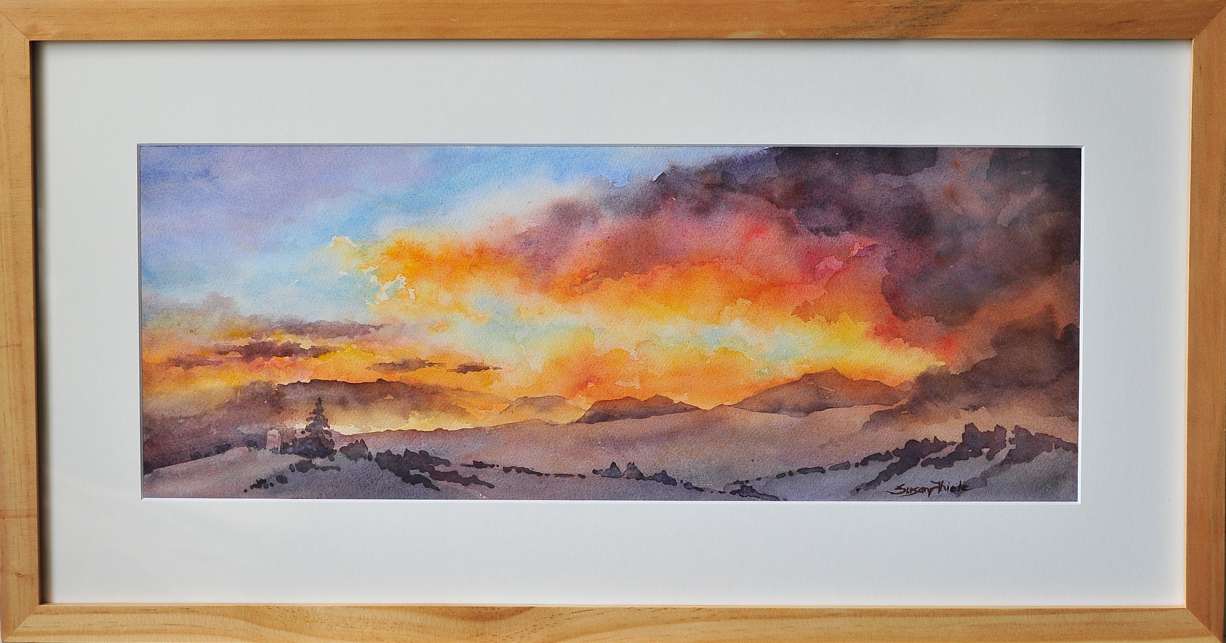 "Sunrise/Sunset Award, ""Mt. Pisgah Fairview Sunset"", Susan Thiele"