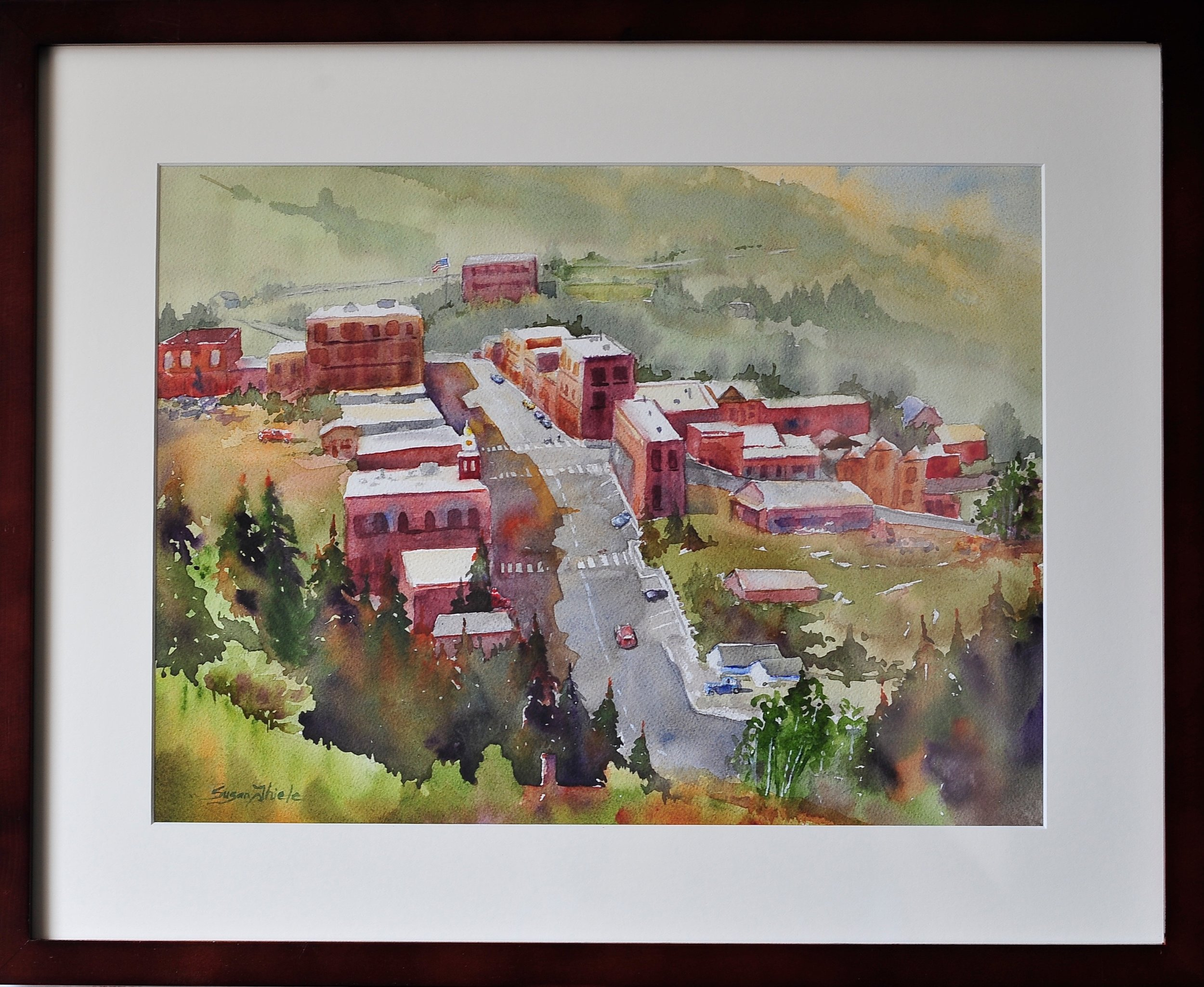 """Honorable Mention Professional Award, """"Early Morning in Victor"""", Susan Thiele"""