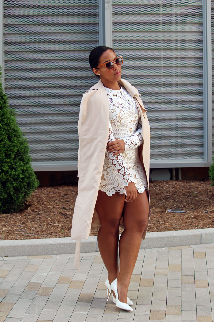 Robinson-Style-Shop-Trench-and-Long-Sleeve-Lace-Mini-Dress-BCBG-pumps-Banana-Republic-sunglasses-6.jpg