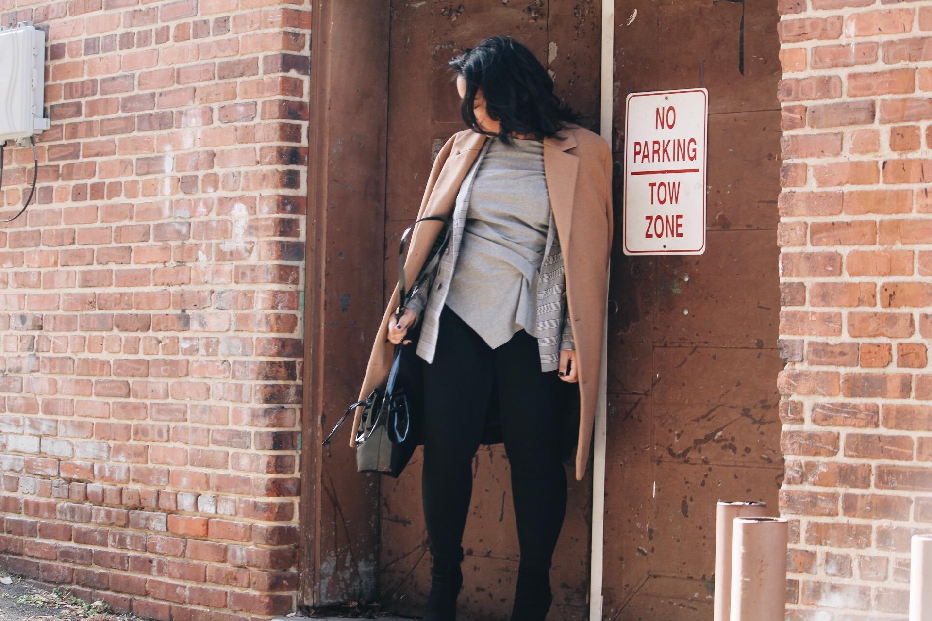 YAS-asos-boyfriend-check-blazer-urban-outfitters-camel-coat-old-navy-rockstar-denim-forever-21-vinyl-bucket-bag-zara-booties-4.JPG