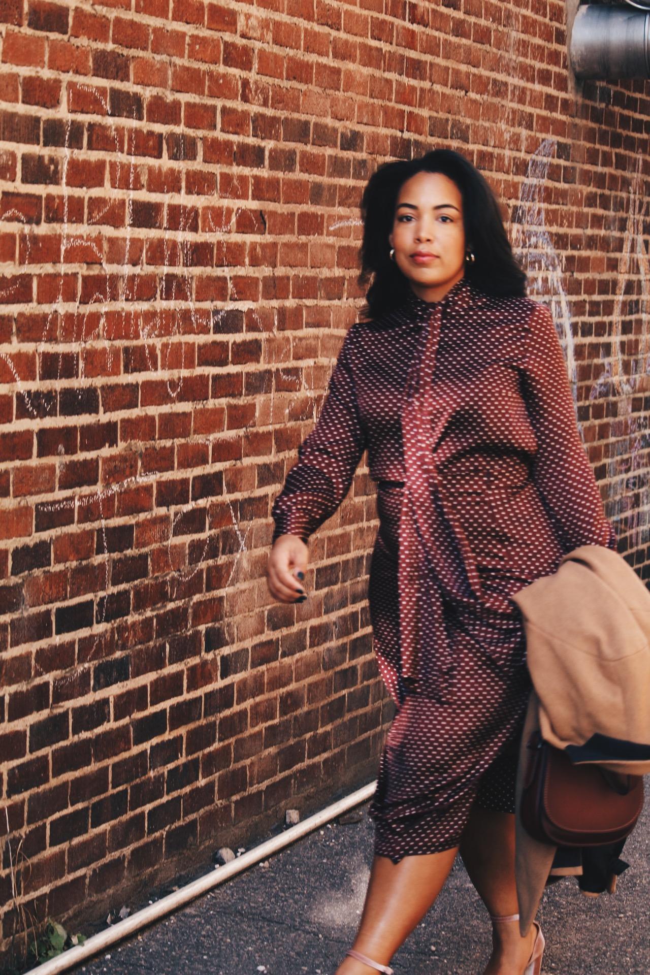 Zara-polka-dot-blouse-and-skirt-urban-outfitters-camel-coat-coach-saddle-bag-topshop-gracie-velvet-heels-similar-aquazurra-alix-pumps-womens-workwear-fashion-17.JPG