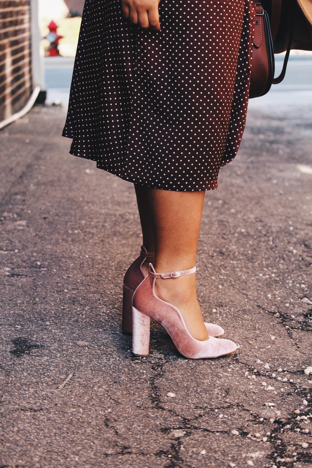 Zara-polka-dot-blouse-and-skirt-urban-outfitters-camel-coat-coach-saddle-bag-topshop-gracie-velvet-heels-similar-aquazurra-alix-pumps-womens-workwear-fashion-18.JPG