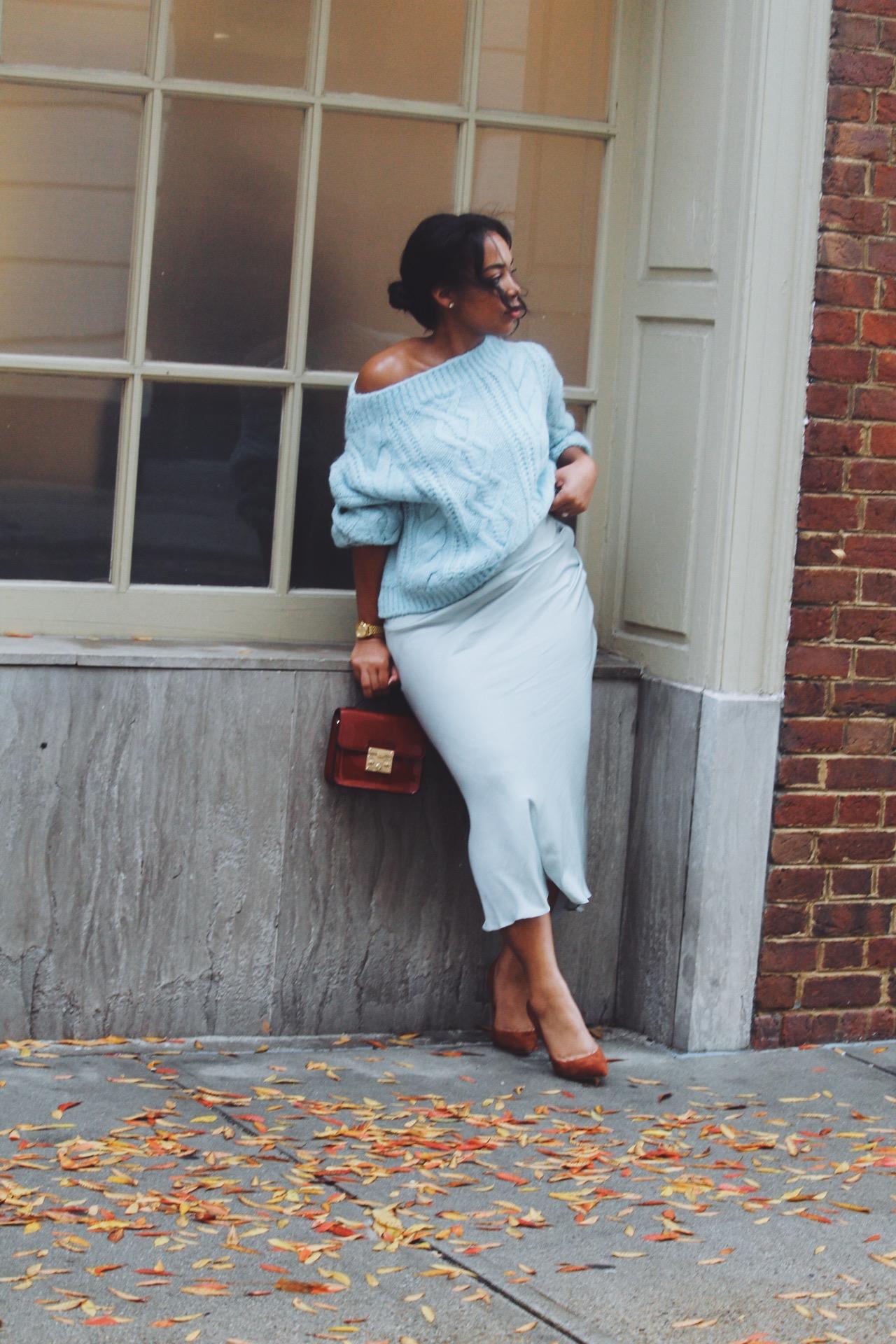 MANGO-cropped-sweater-free-people-normani-satin-skirt-steve-madden-daisie-pumps-chestnut-suede-2.JPG