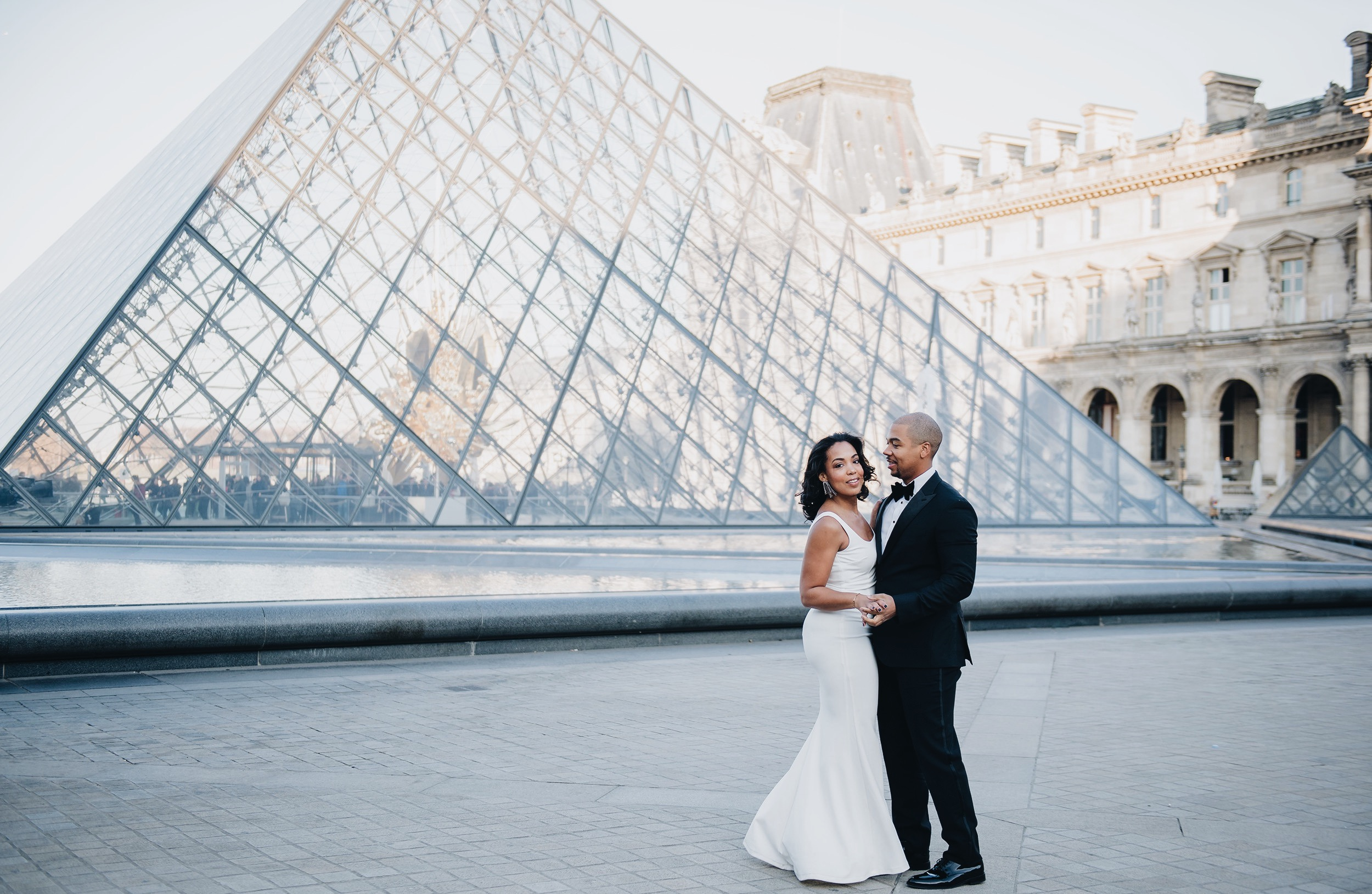 paris-engagement-session-the-louvre-katie-may-lucy-dress-anthropologie-bhldn-bridal-gown-bridesmaid-dress-the-black-tux-tuxedo-suit-rental-velvet-bow-tie-5.JPG