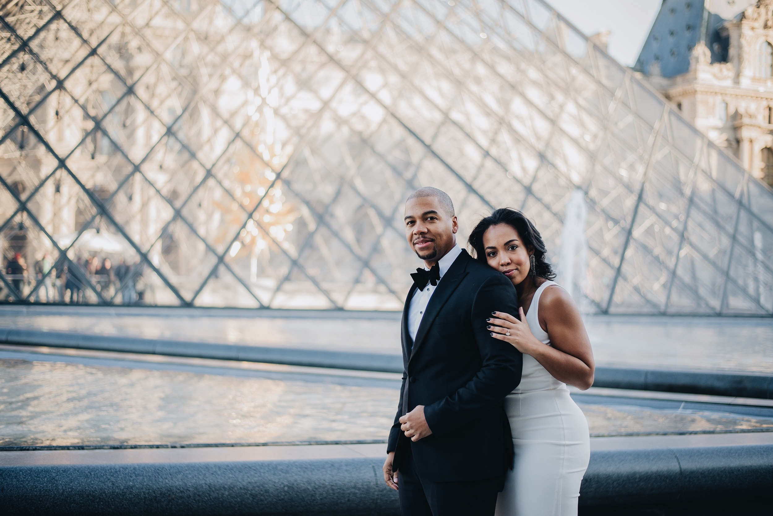 paris-engagement-session-the-louvre-katie-may-lucy-dress-anthropologie-bhldn-bridal-gown-bridesmaid-dress-the-black-tux-tuxedo-suit-rental-velvet-bow-tie-2.JPG