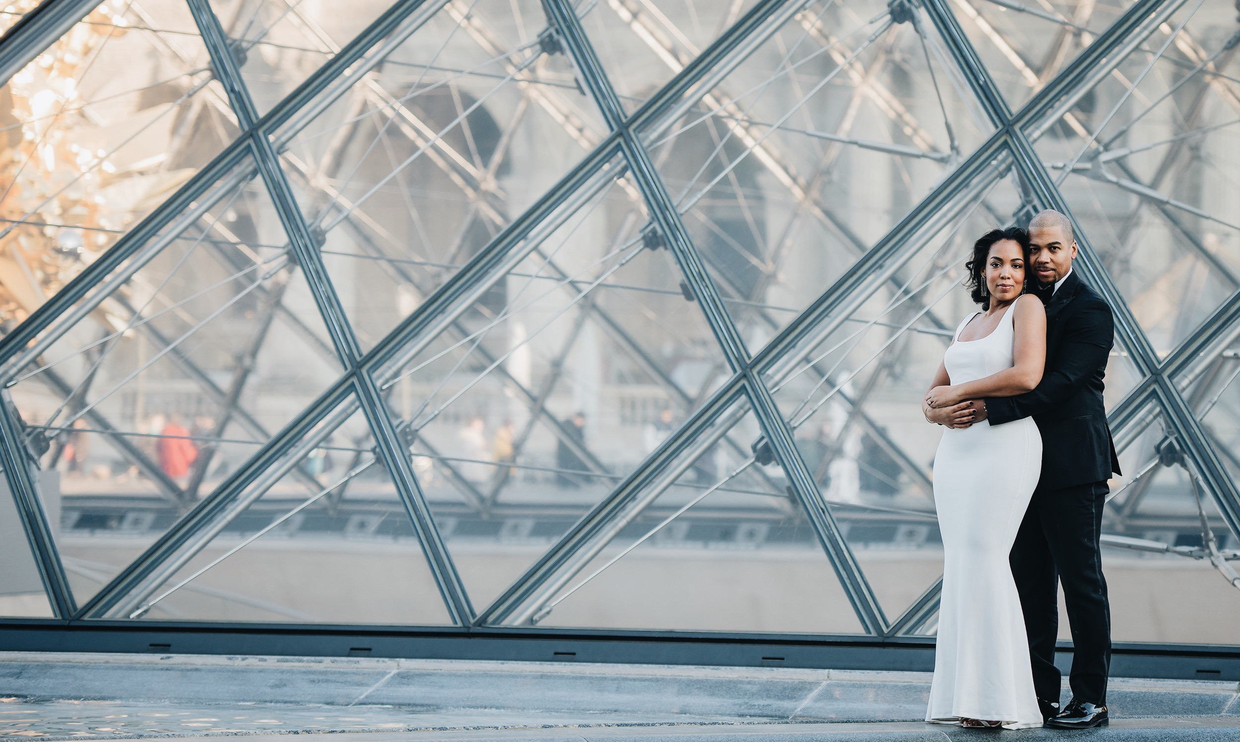 paris-engagement-session-the-louvre-katie-may-lucy-dress-anthropologie-bhldn-bridal-gown-bridesmaid-dress-the-black-tux-tuxedo-suit-rental-velvet-bow-tie-11.JPG