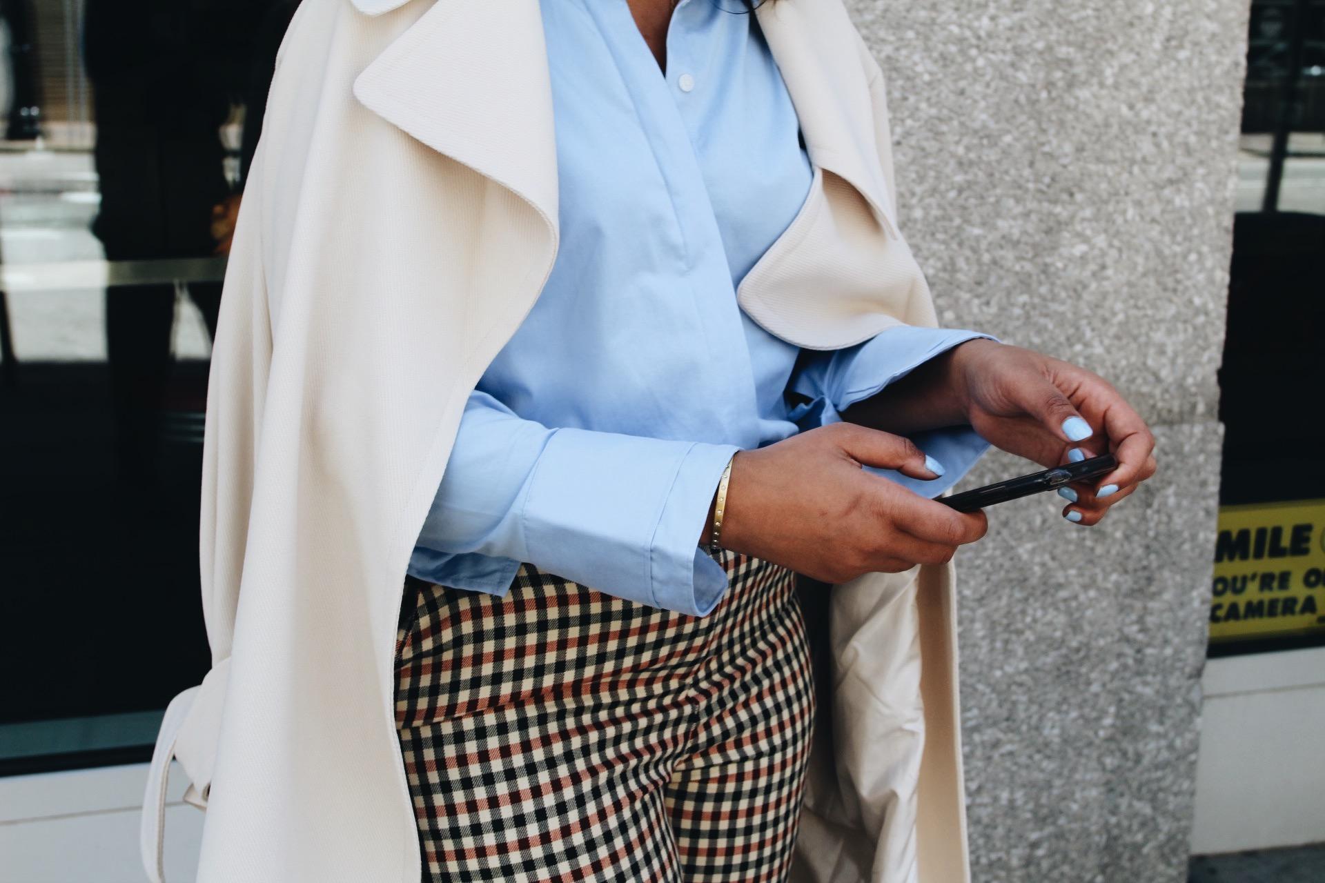 My-fave-iphone-apps-asos-plaid-pant-zara-blouse-steve-madden-daisie-pumps-asos-coat-2.JPG