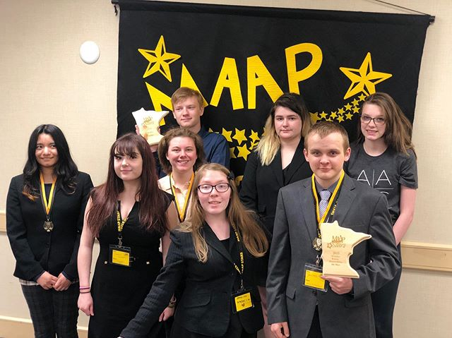 MAAP STARS did awesome today! We are so proud of all 9 students who participated, worked hard, and competed today, and yesterday! #academicarts #maapstars2019