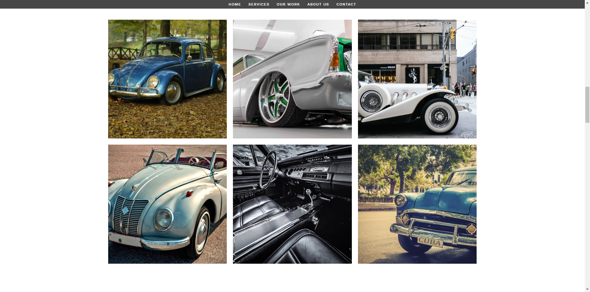 Gallery - This single page layout has plenty of room to display what you are proud of.