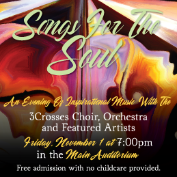 Songs for the Soul - An Evening of Inspiring MusicNovember 1, 20197:00pm in the Main Auditorium