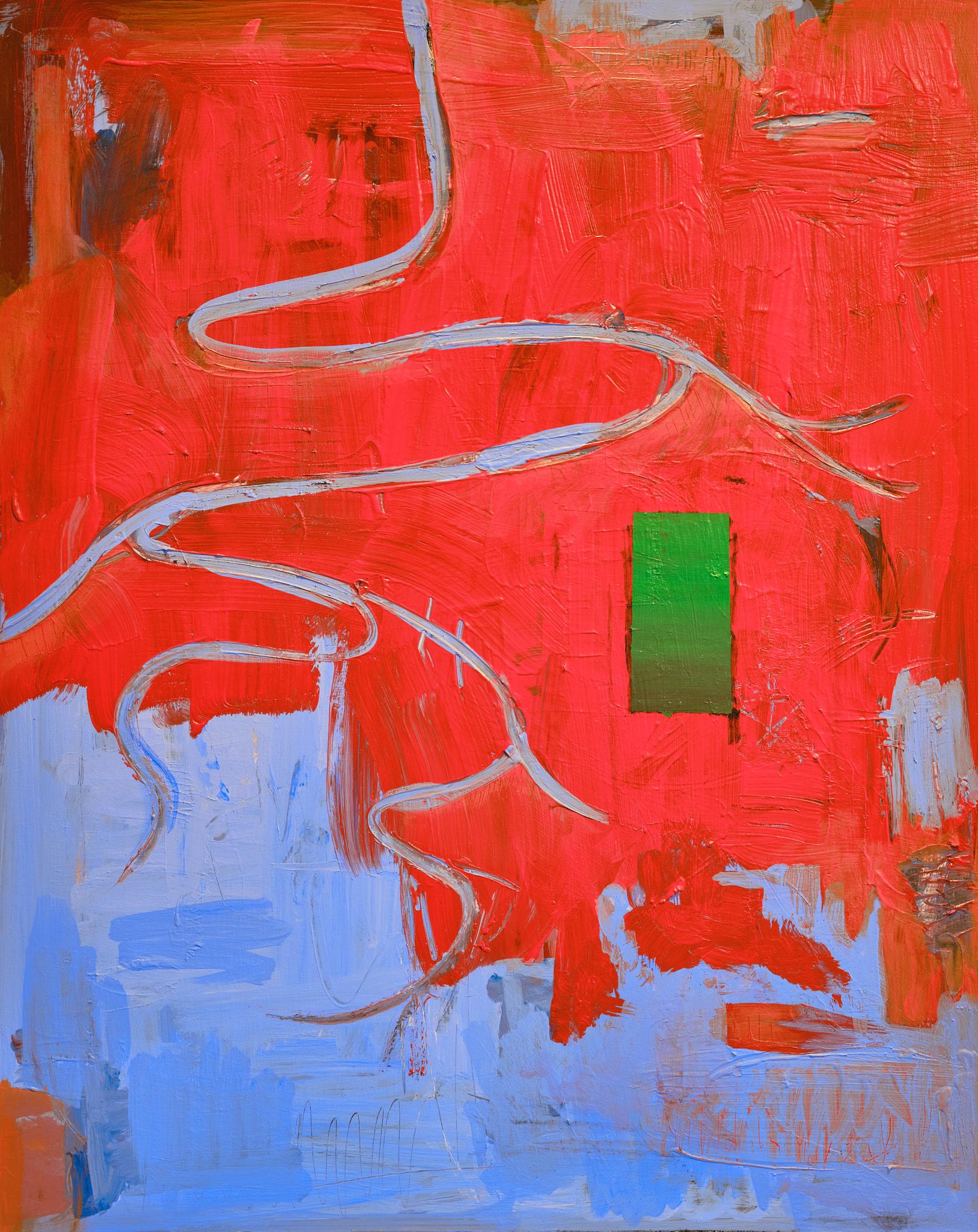Wandering Nerve, oil & acrylic on board  - Evan Kaufman