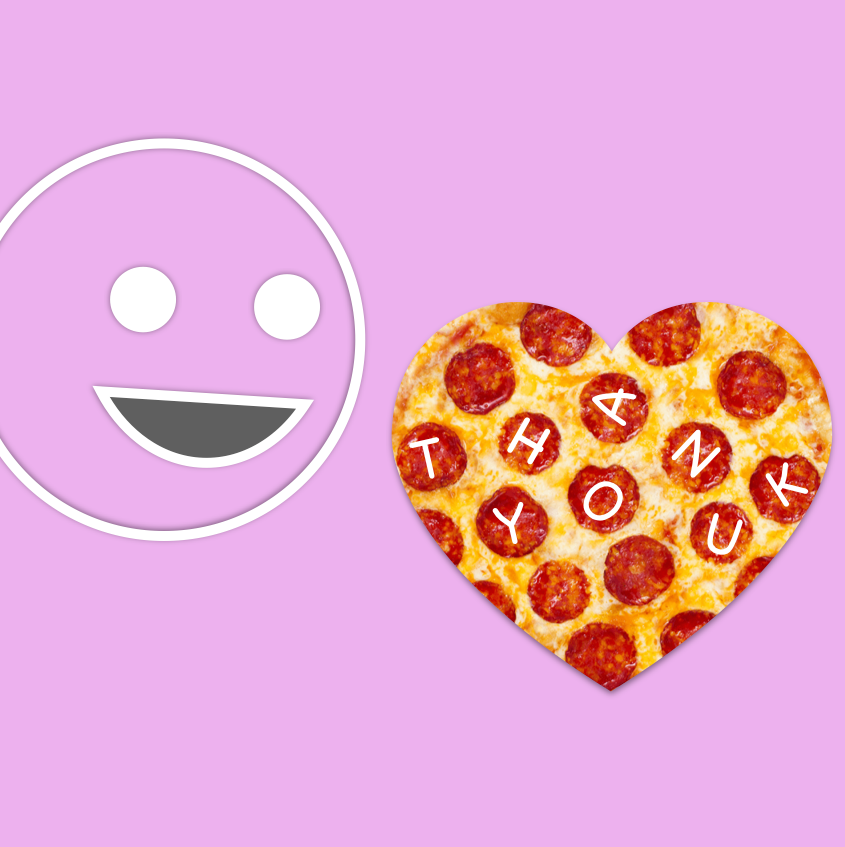 This Valentine's Give Them Pizza and Say Thanks -