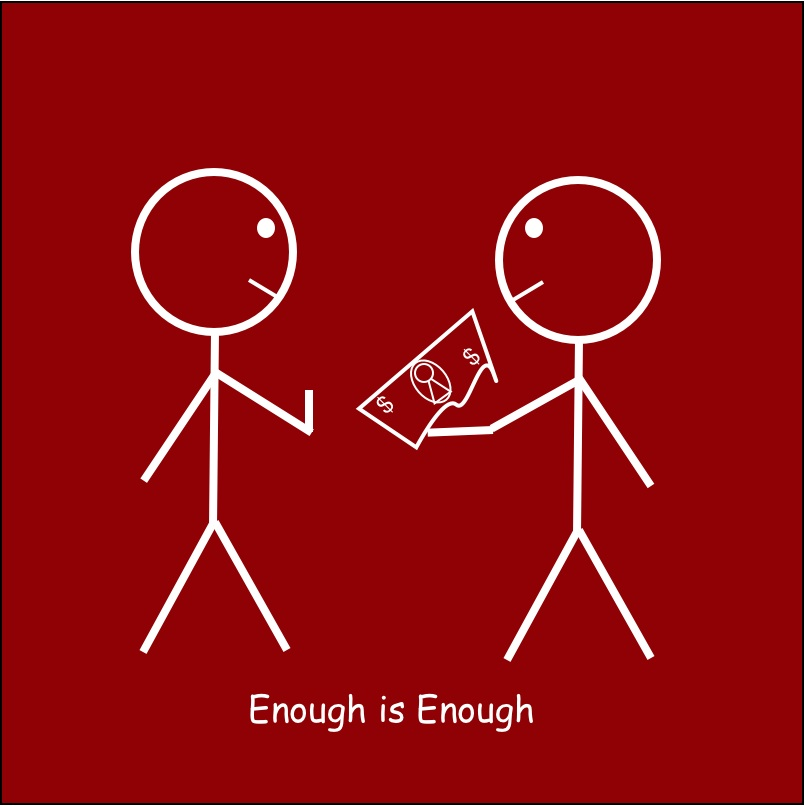 Enough is Enough. Knowing When to Say When on Compensation -