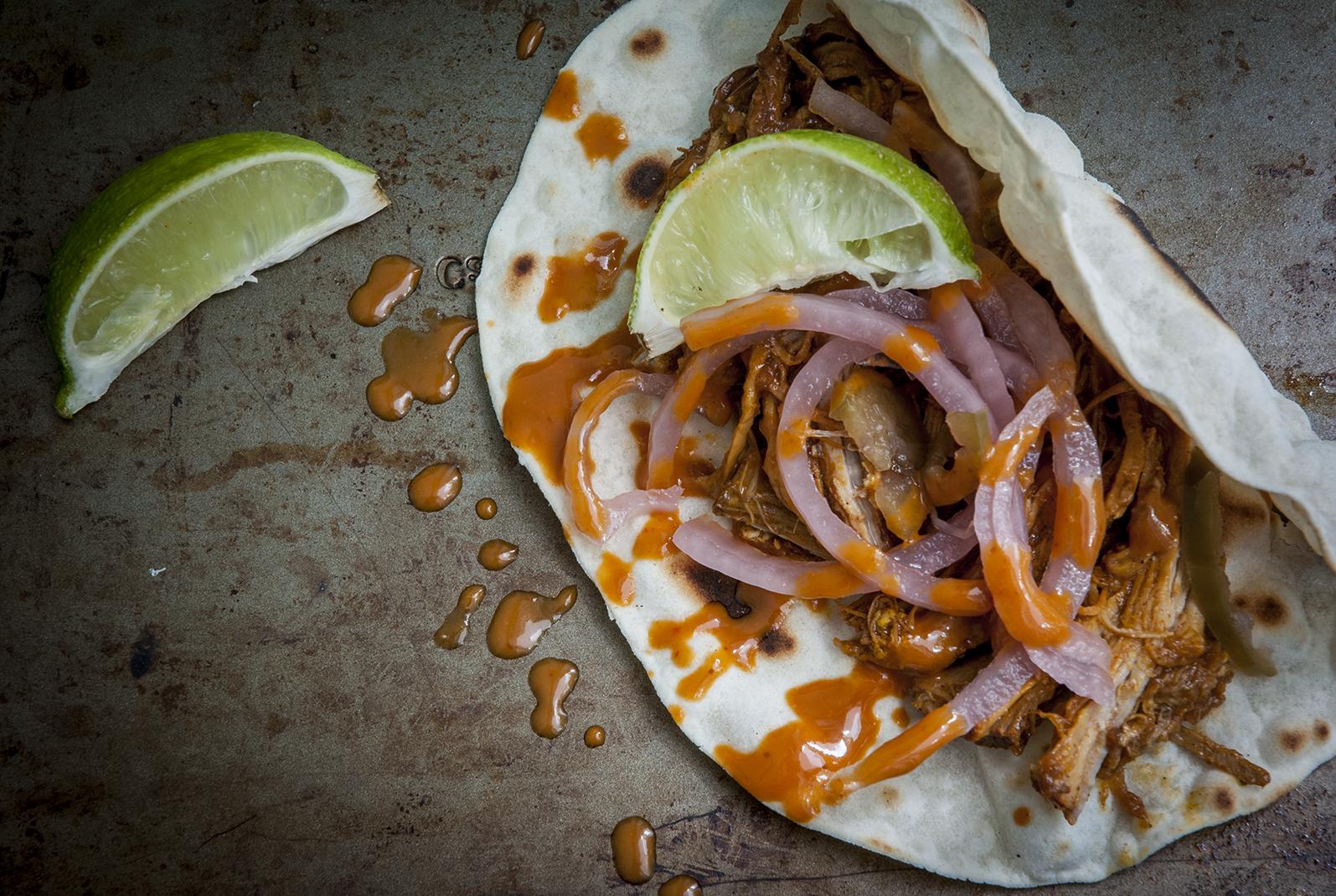 conchinita pibil tacos