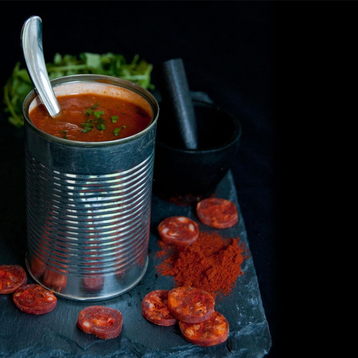 smokey sweet chorizio soup
