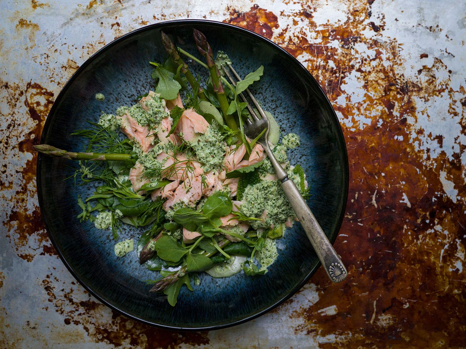Salmon & Herb Salad