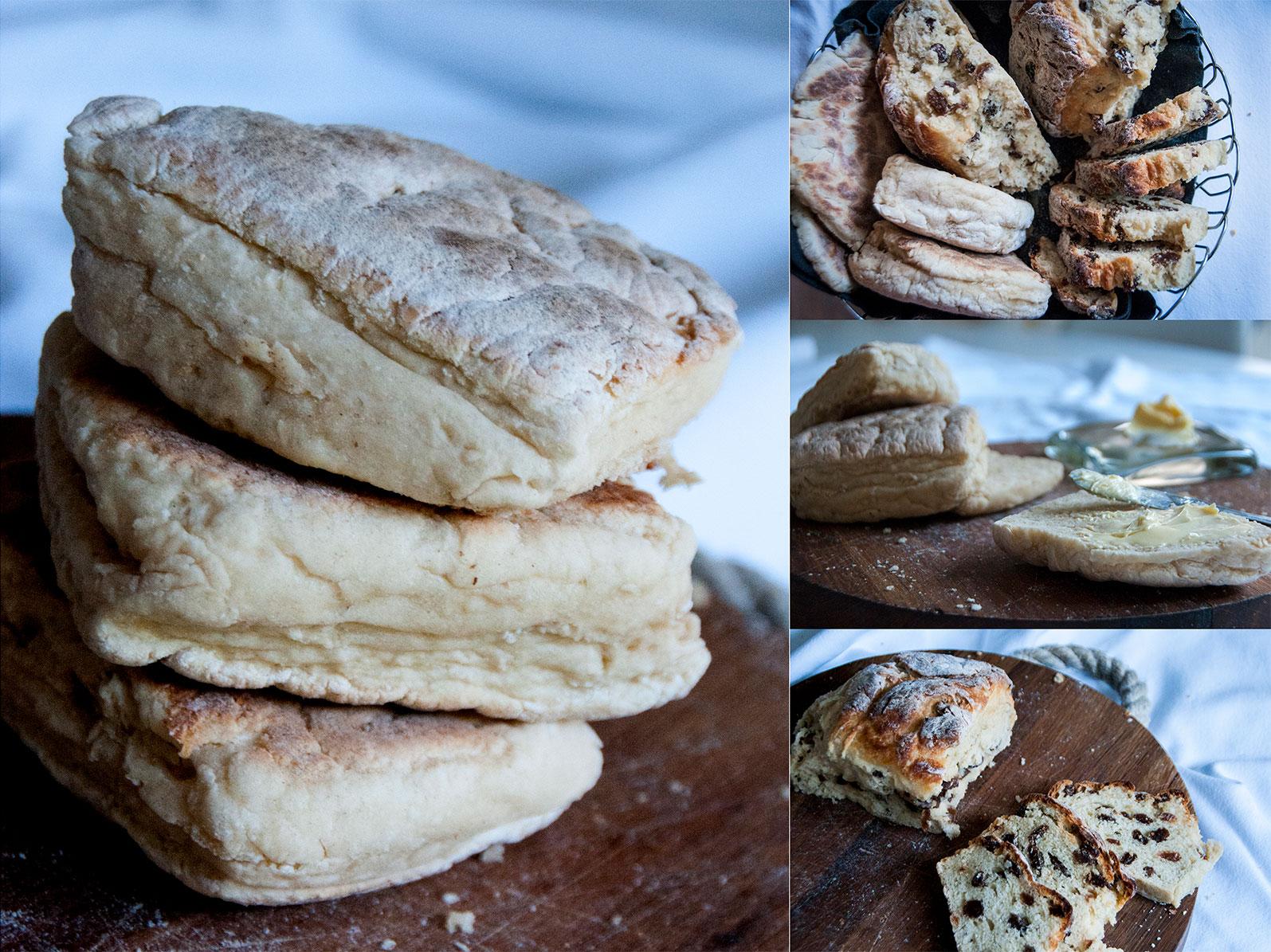 Griddled Soda Farls, Sultana Soda Sides & Potato Bread