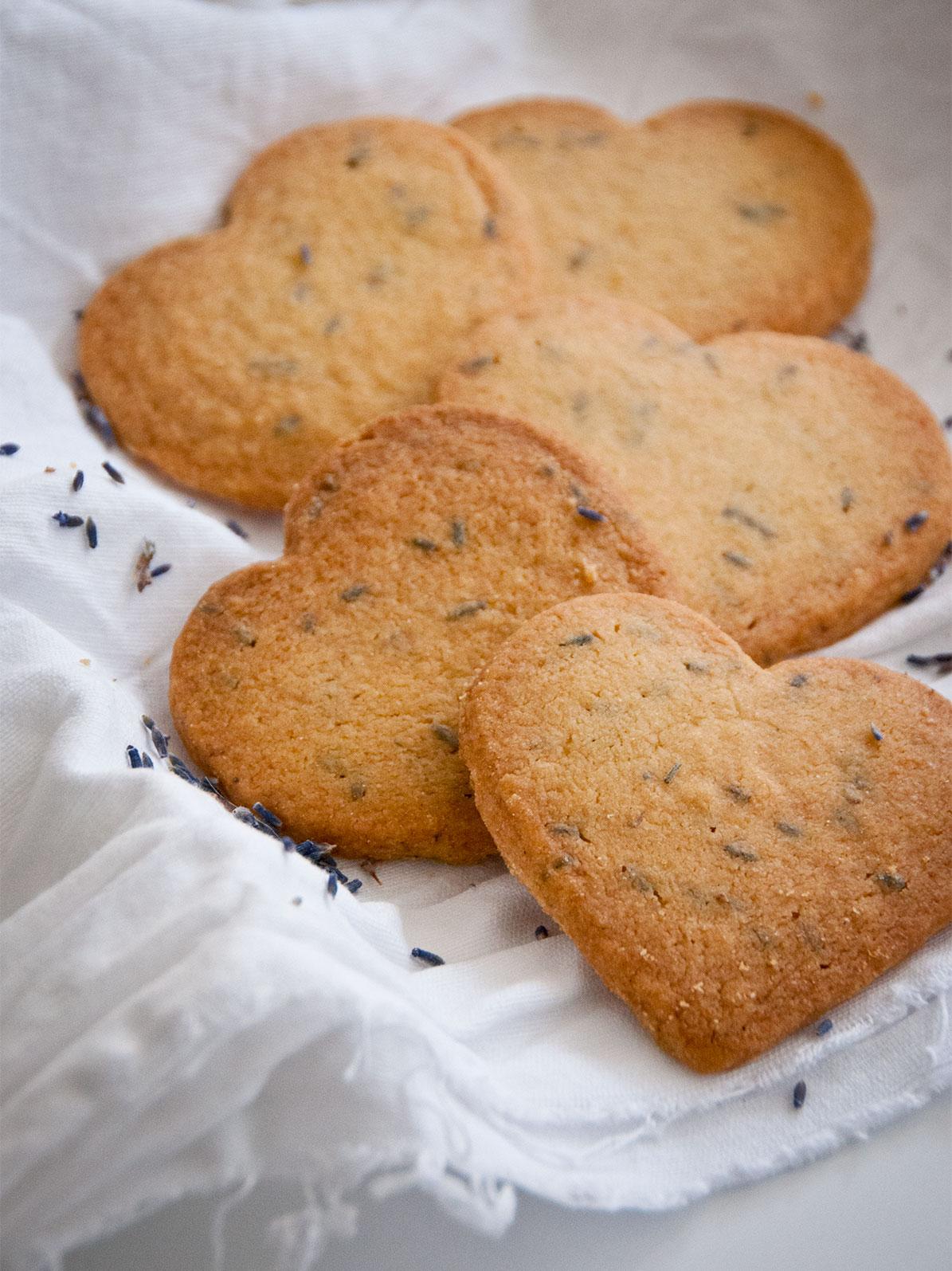 lavendar shortbread hearts