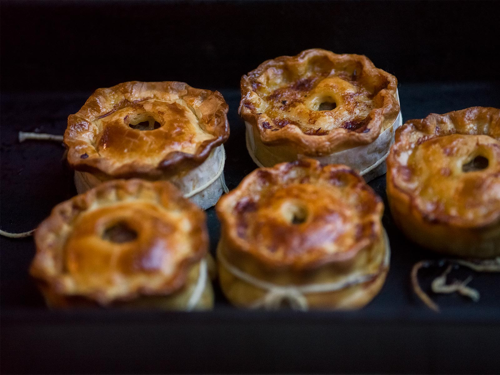 straight from the oven, golden brown - lamb scotch pies
