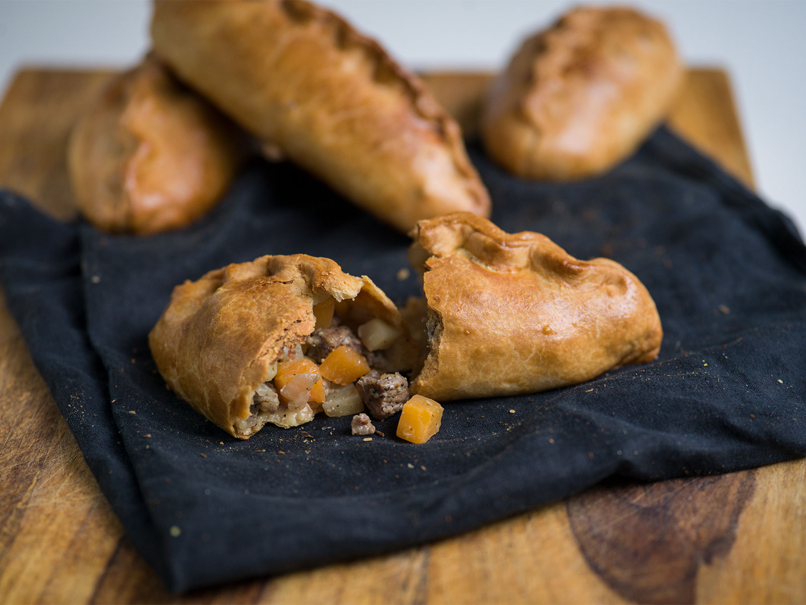 Flaky, golden pastry wrapped around melt-in-the-mouth beef and vegetables | Cornish Pasty