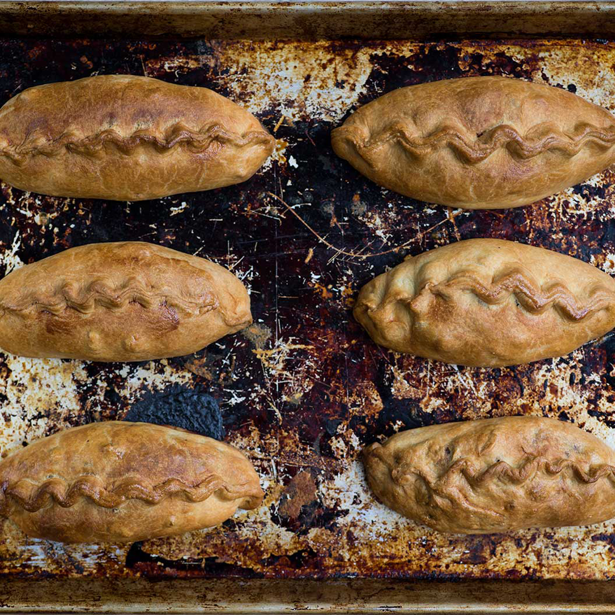 Baked golden brown - about an hour at 160°C | Cornish Pasty