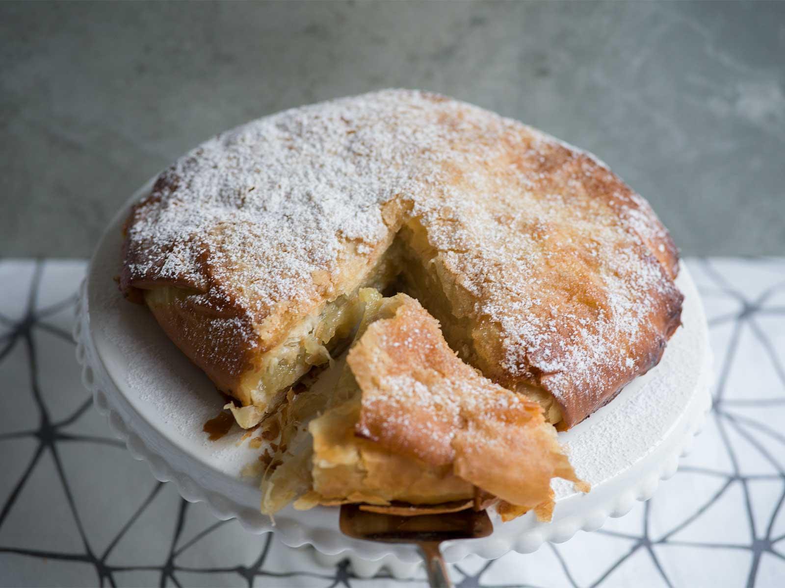 apple and cinnamon wrapped in filo pastry   Apple Pastilla