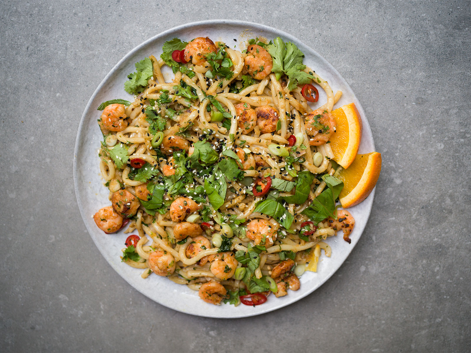 Udon with Prawns & Orange Nam Jim | a recipe from Yotam Ottolenghi