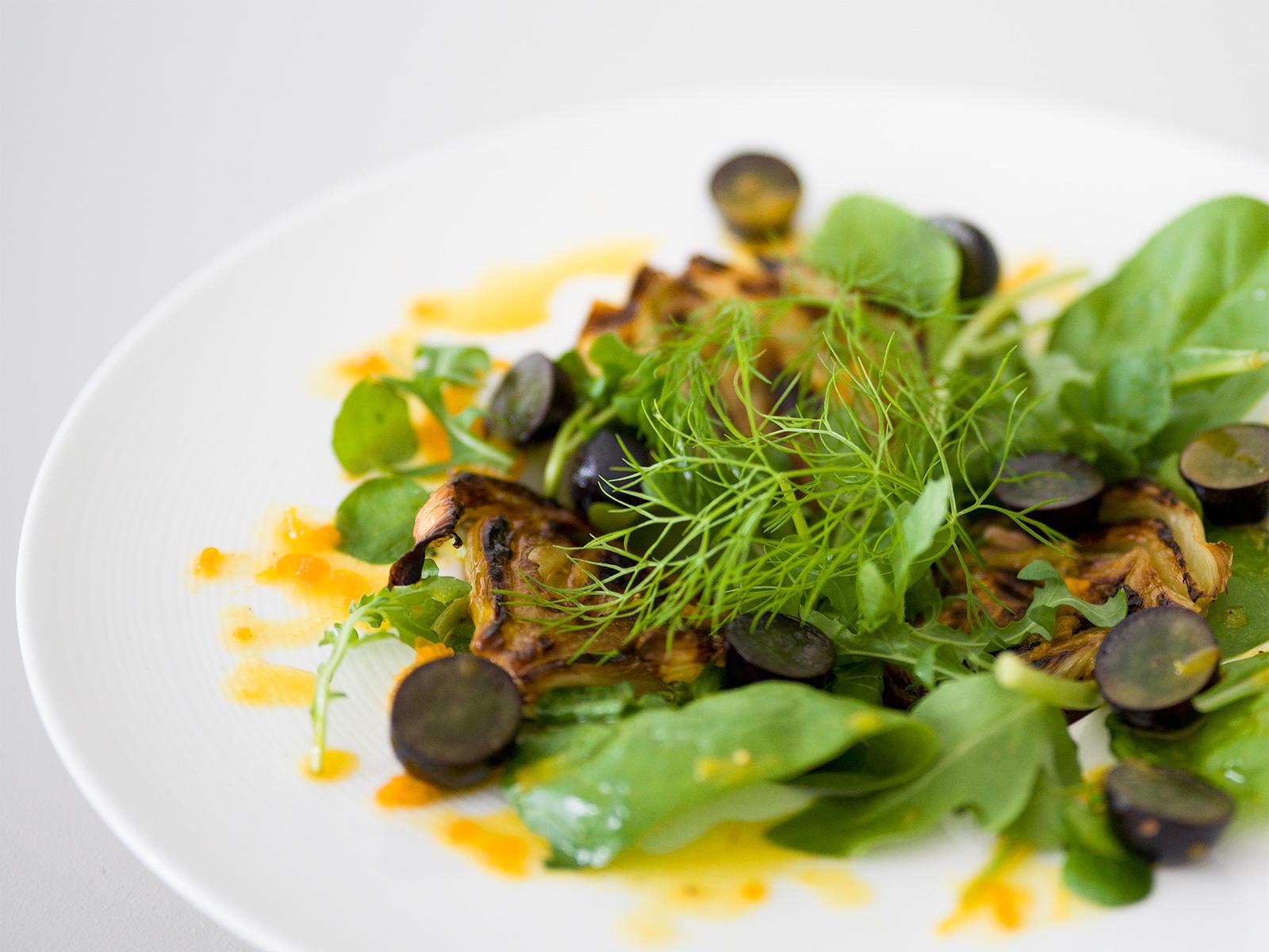 Roasted Fennel, Orange & Grape Salad