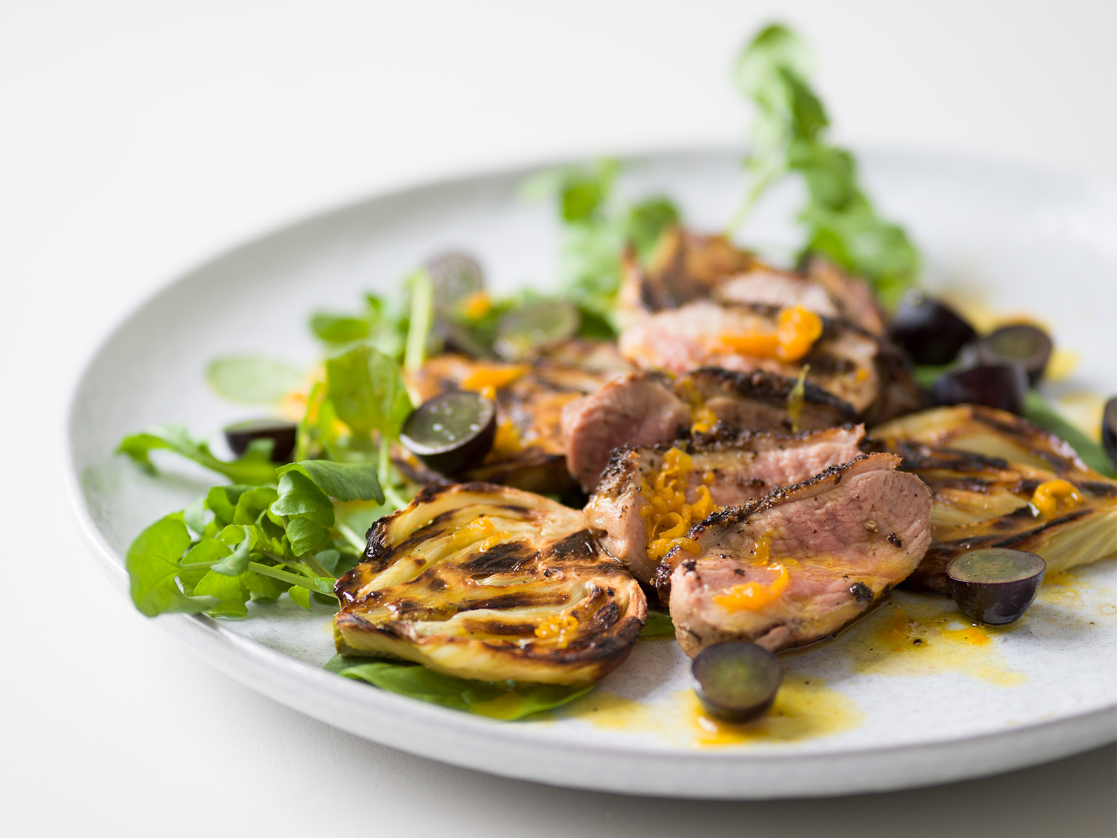 Spiced Duck & Roasted Fennel Salad