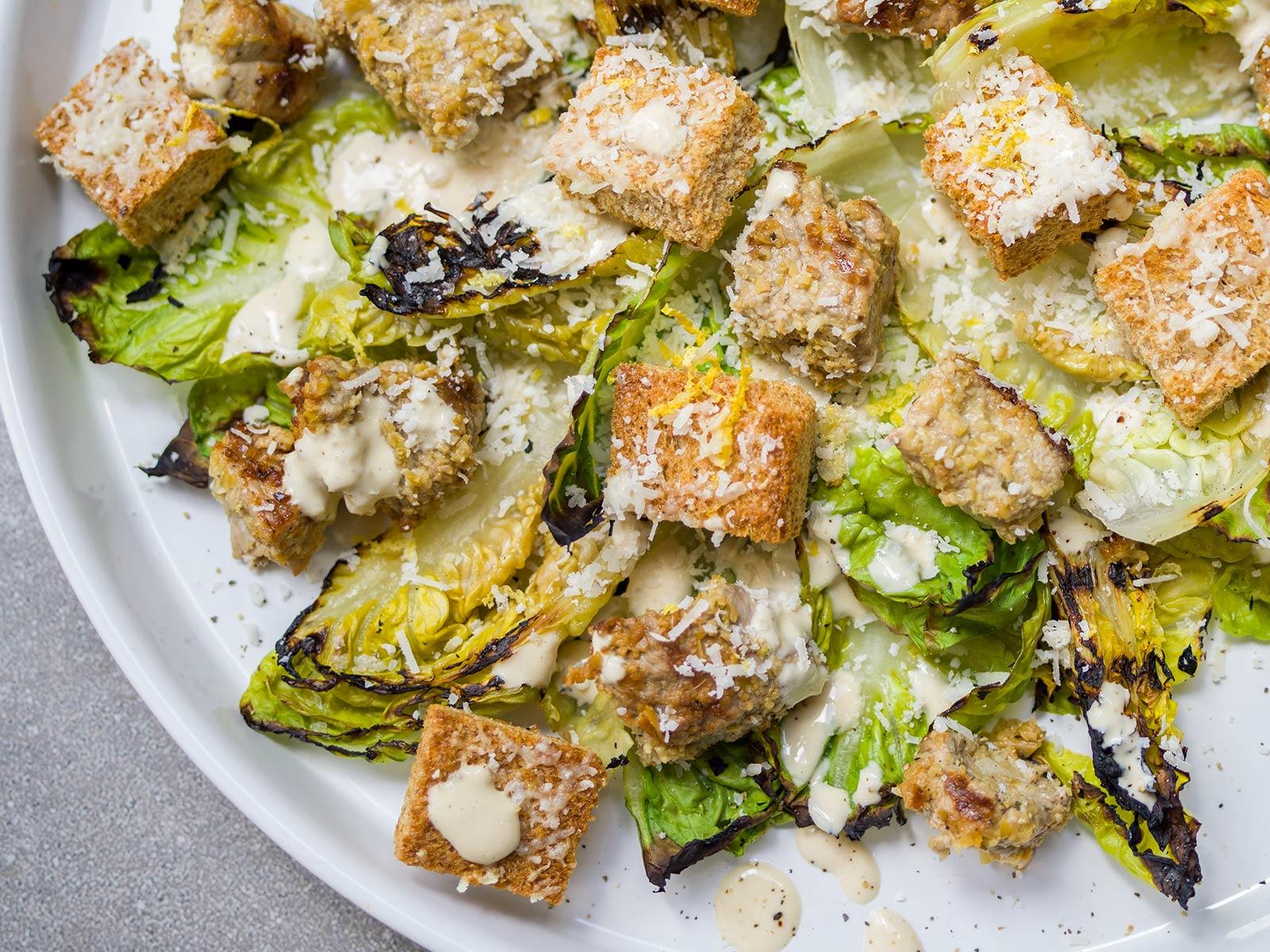 Griddled Baby Gem Salad