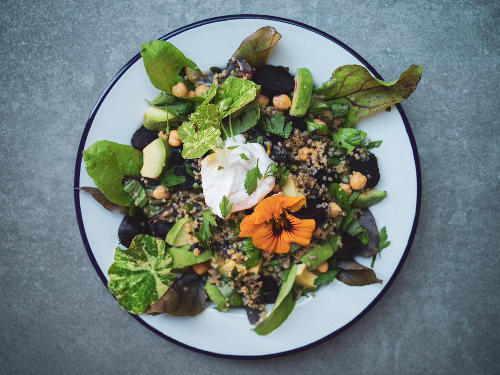 Beetroot, Chickpea & Quinoa Salad