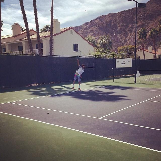Desert Smash Pro Am tennis with @RedFoo of @LMFAO.