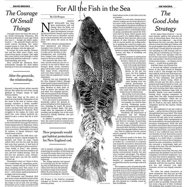 #tbt to this half dead fish I did for The NYTimes Op-Ed. Beautiful layout and art direction by @matt.dorfman