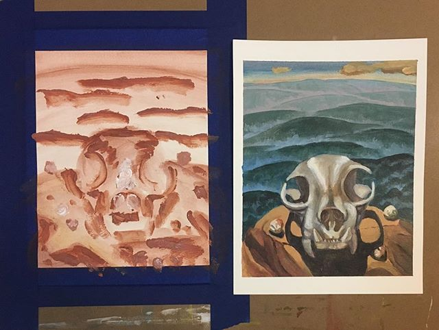 Using the first study as a template for another work #workinprogressart #paintings