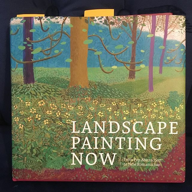 Just get this-a survey of current landscape painting, by Barry Schwabsky. It has nice big pictures #landscapepaintingnow @barryschwabsky #artbook
