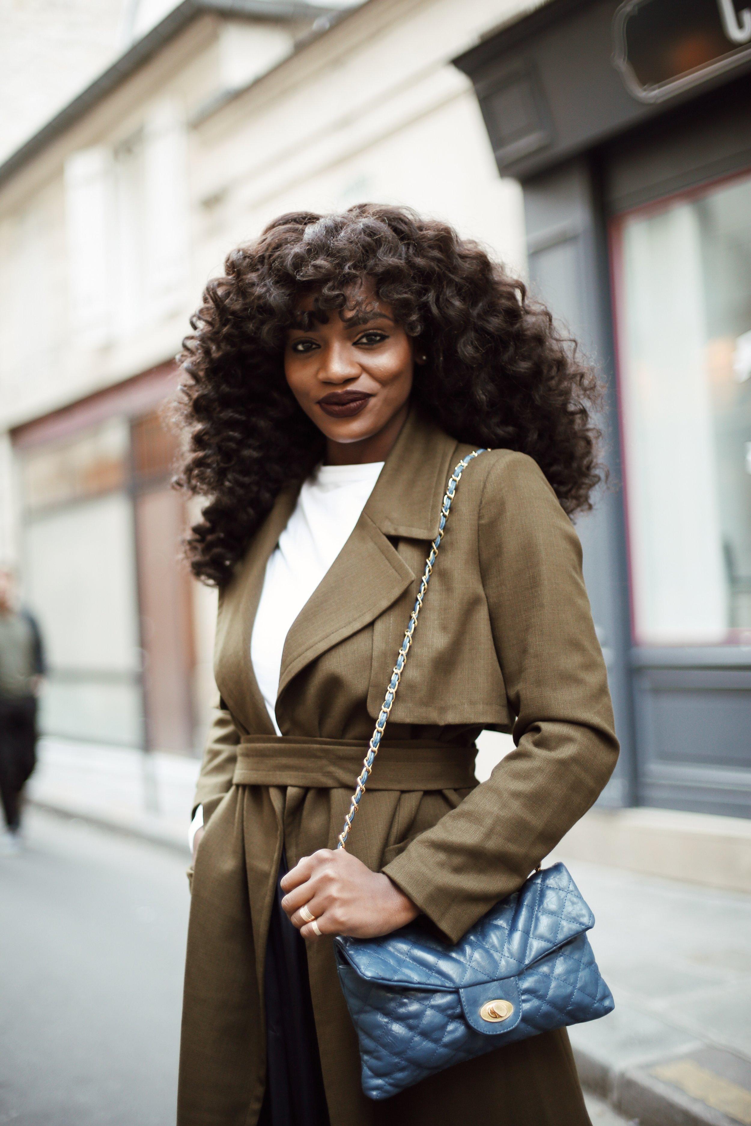 Olive Green Trench Coat in Paris | Asiyami Gold