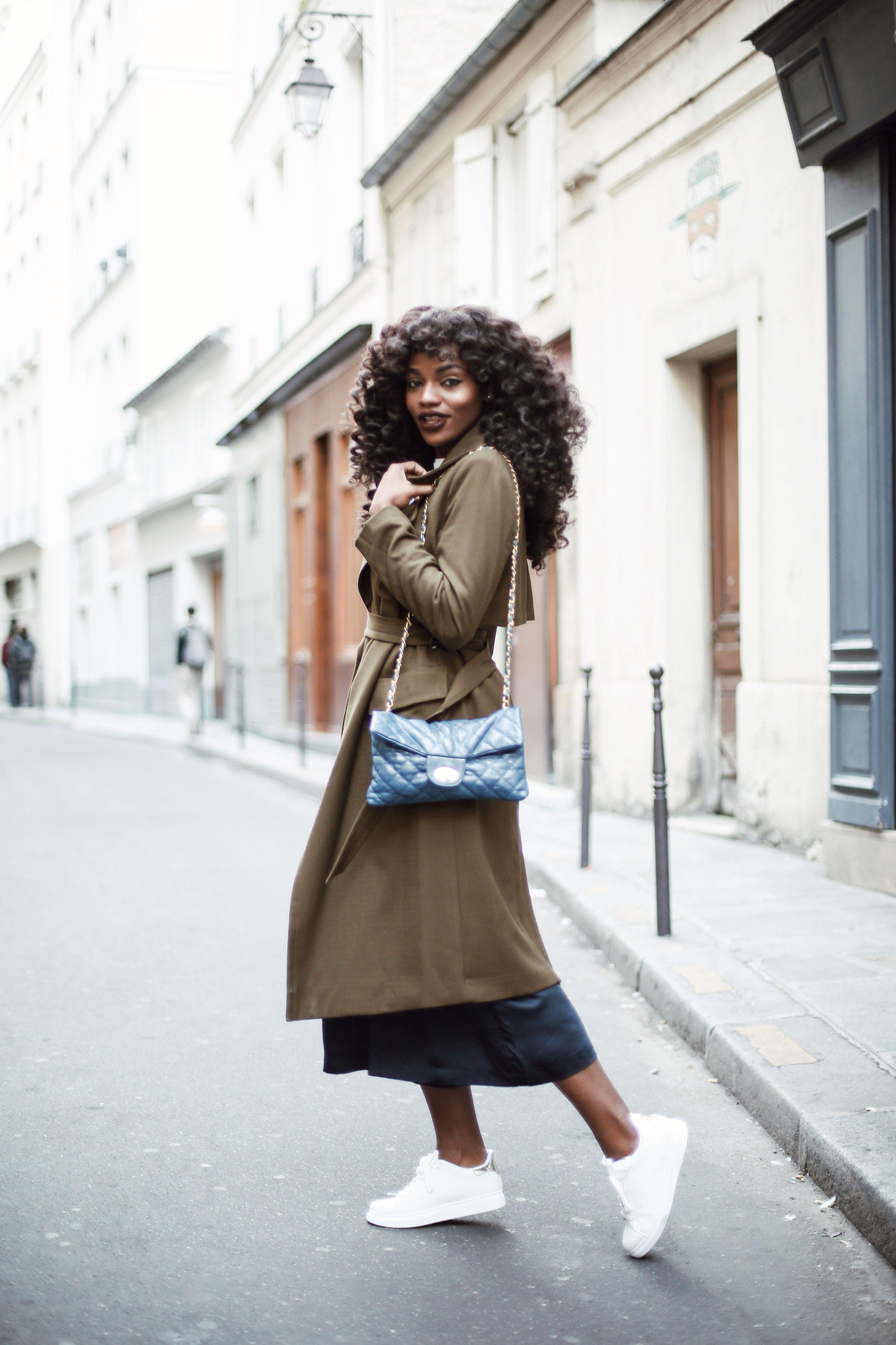 Asiyami Gold wearing Heat Free Hair at Paris Fashion Week