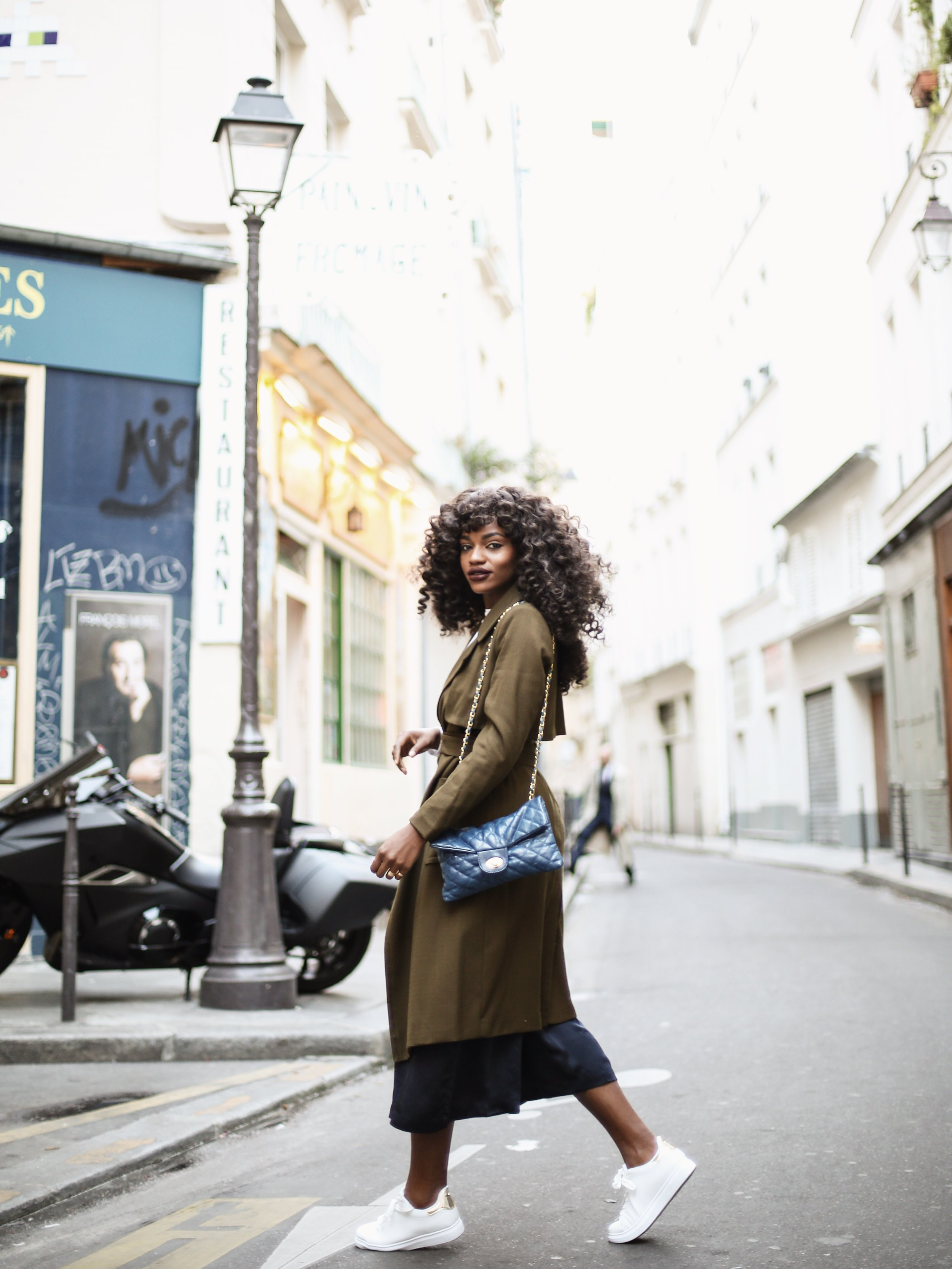 H&M Olive Green Trench - Fashion Week | Asiyami Gold