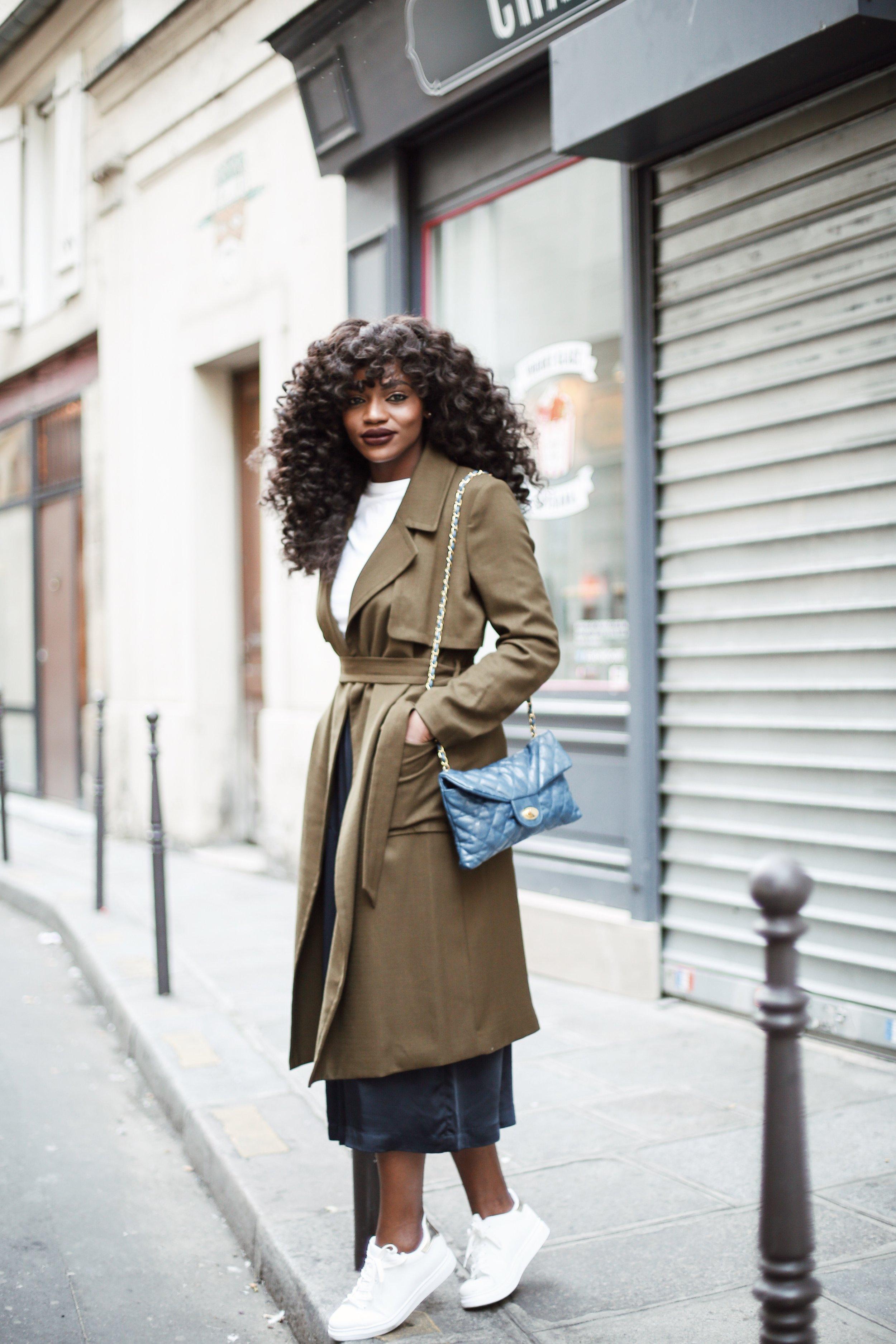 Asiyami Gold wearing H&M at Paris Fashion Week
