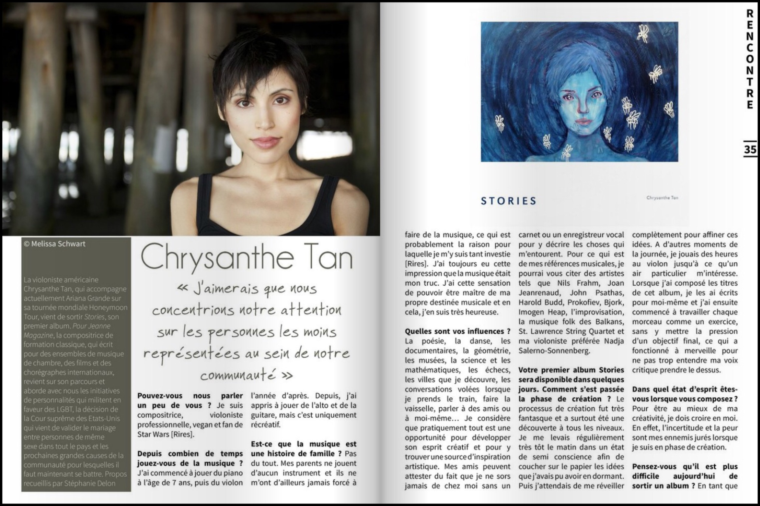 Preview of 4-page Jeanne Magazine interview