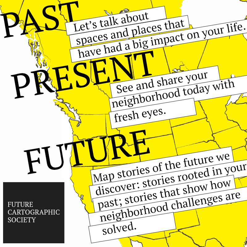 Identity: Future Cartographic Society. An organization devoted to charting neighborhood futures.
